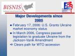 major developments since 2005