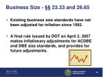 business size 23 33 and 26 65