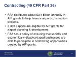 contracting 49 cfr part 26