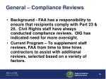 general compliance reviews