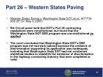 part 26 western states paving