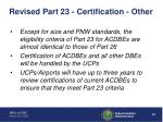 revised part 23 certification other