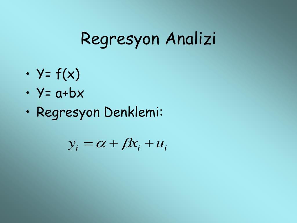 Regresyon Analizi