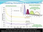 cost modeling simulation to seek ehs tradeoffs