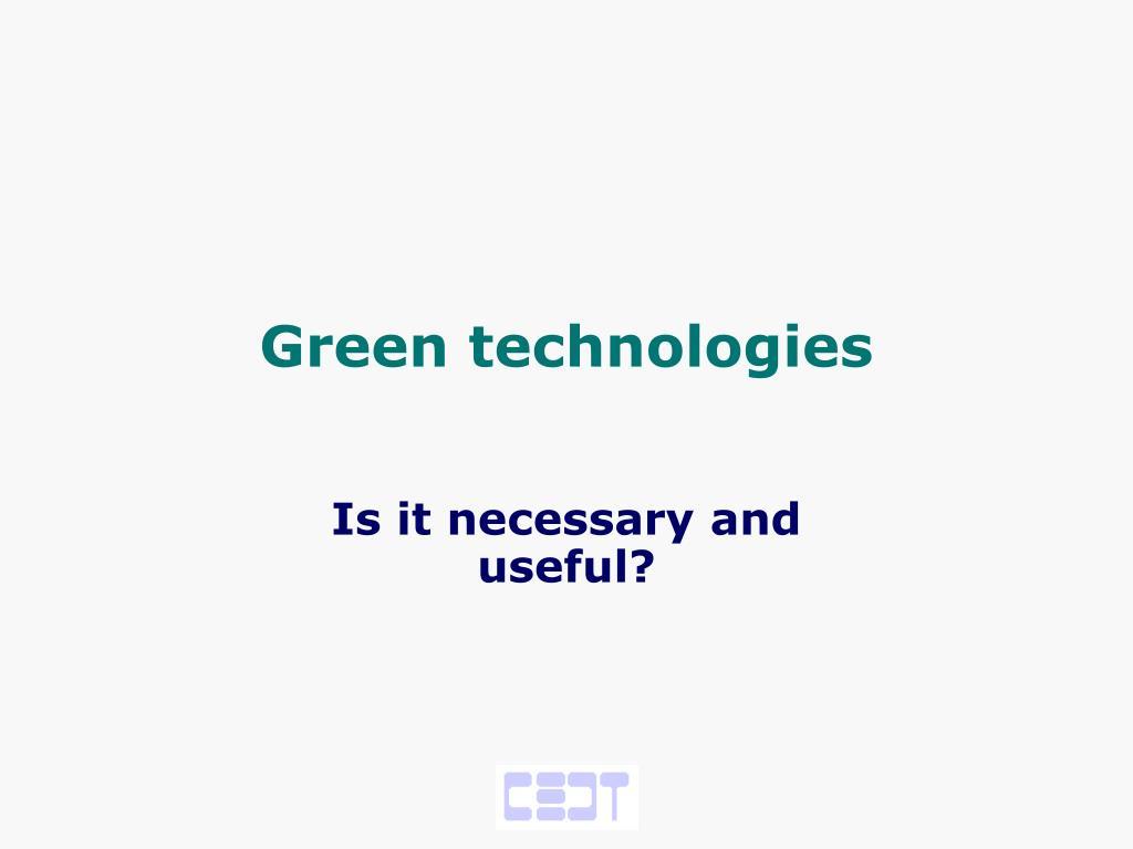 green technologies l.