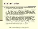 earliest ballcourt