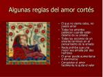 algunas reglas del amor cort s