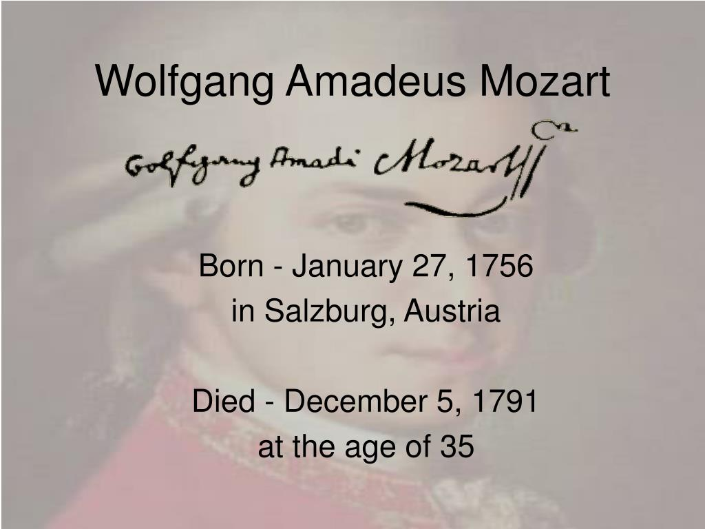wolfgang amadeus mozart l.