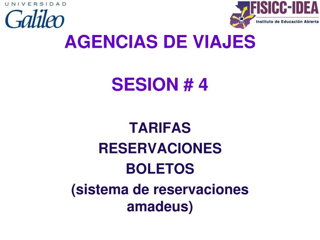 agencias de viajes sesion 4 l.