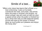 simile of a bee