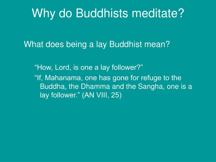 Why do Buddhists meditate?