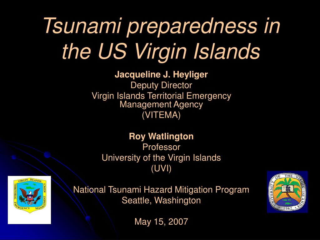 tsunami preparedness in the us virgin islands l.