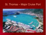 st thomas major cruise port
