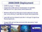 2008 2009 deployment
