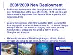 2008 2009 new deployment