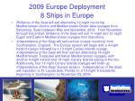 2009 europe deployment 8 ships in europe