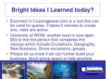 bright ideas i learned today