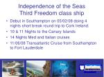 independence of the seas third freedom class ship