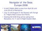 navigator of the seas europe 2008