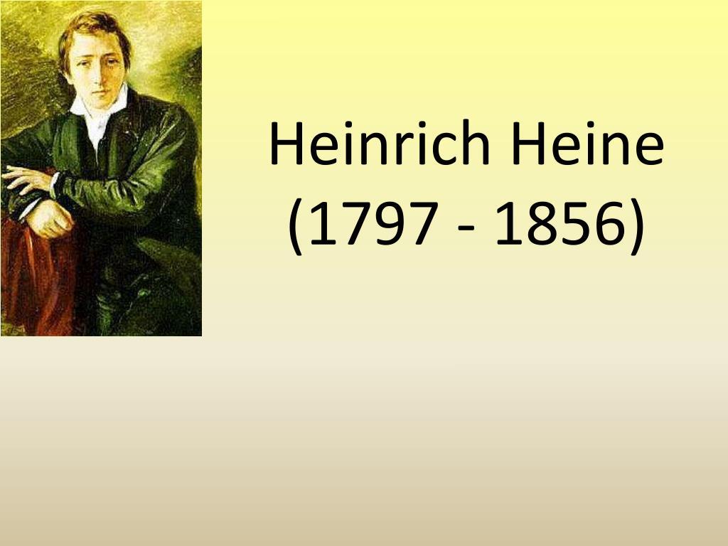 heinrich heine 1797 1856 l.