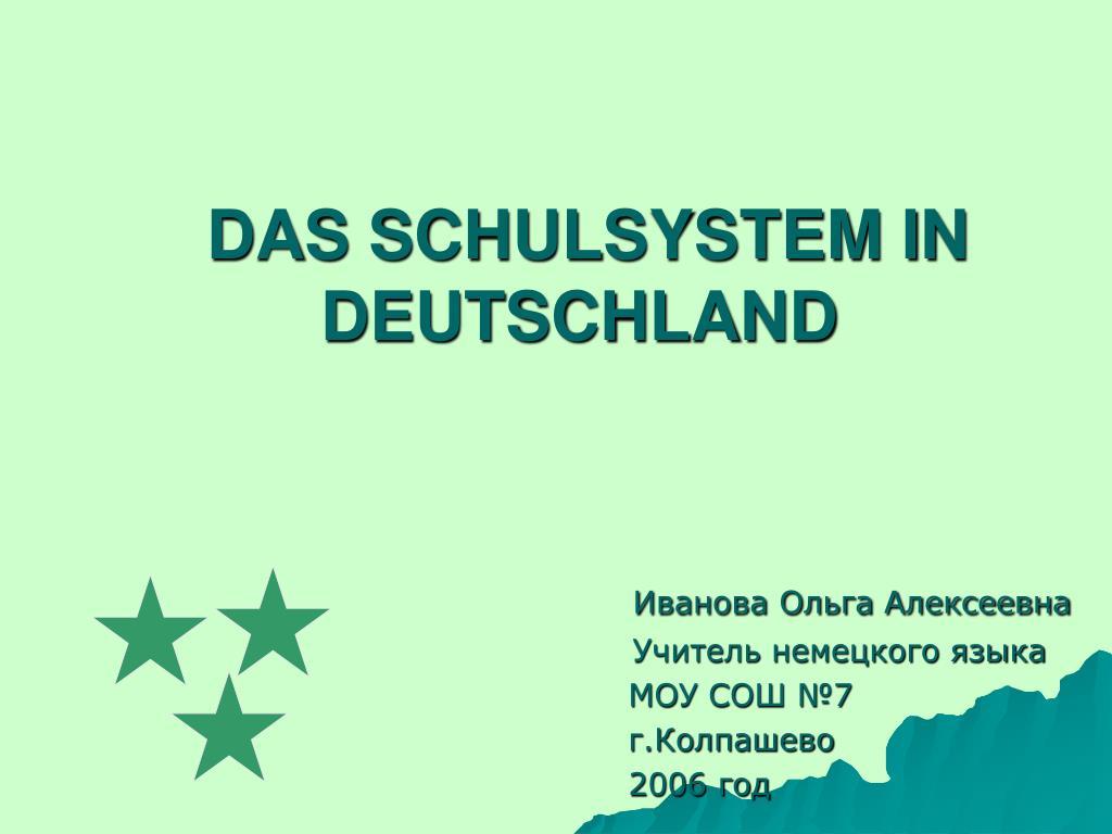 das schulsystem in deutschland l.