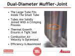 dual diameter muffler joint
