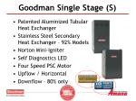 goodman single stage s