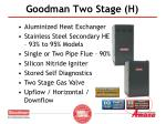 goodman two stage h