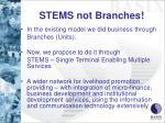 stems not branches