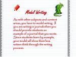 model writing