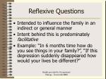 reflexive questions