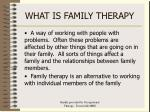 what is family therapy