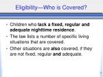 eligibility who is covered