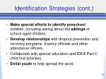 identification strategies cont