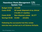 hazardous waste management system trial13