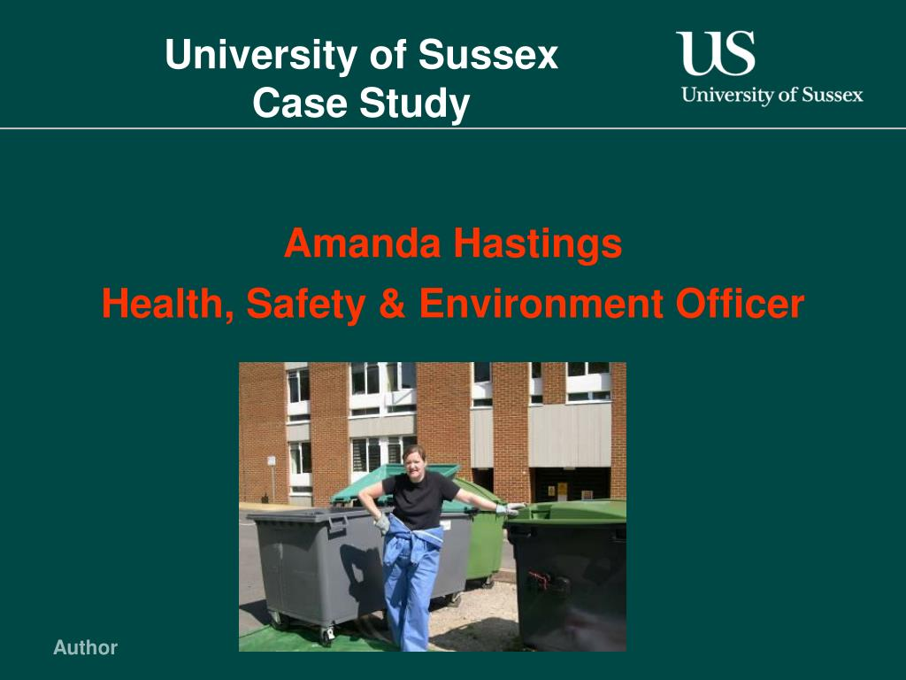university of sussex case study l.