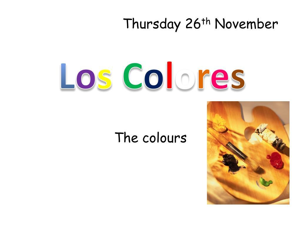 the colours l.