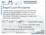 single layer perceptron8