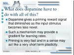 what does dopamine have to do with all of this