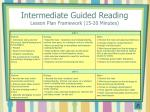 intermediate guided reading lesson plan framework 15 20 minutes