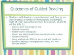 outcomes of guided reading