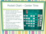 pocket chart center time
