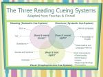 the three reading cueing systems adapted from fountas pinnell