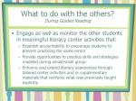 what to do with the others during guided reading