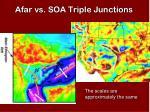 afar vs soa triple junctions