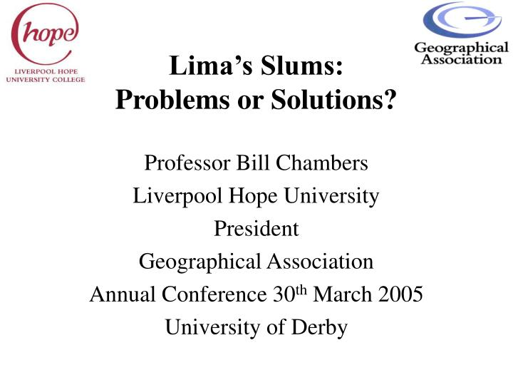 lima s slums problems or solutions n.