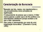 caracteriza o da burocracia