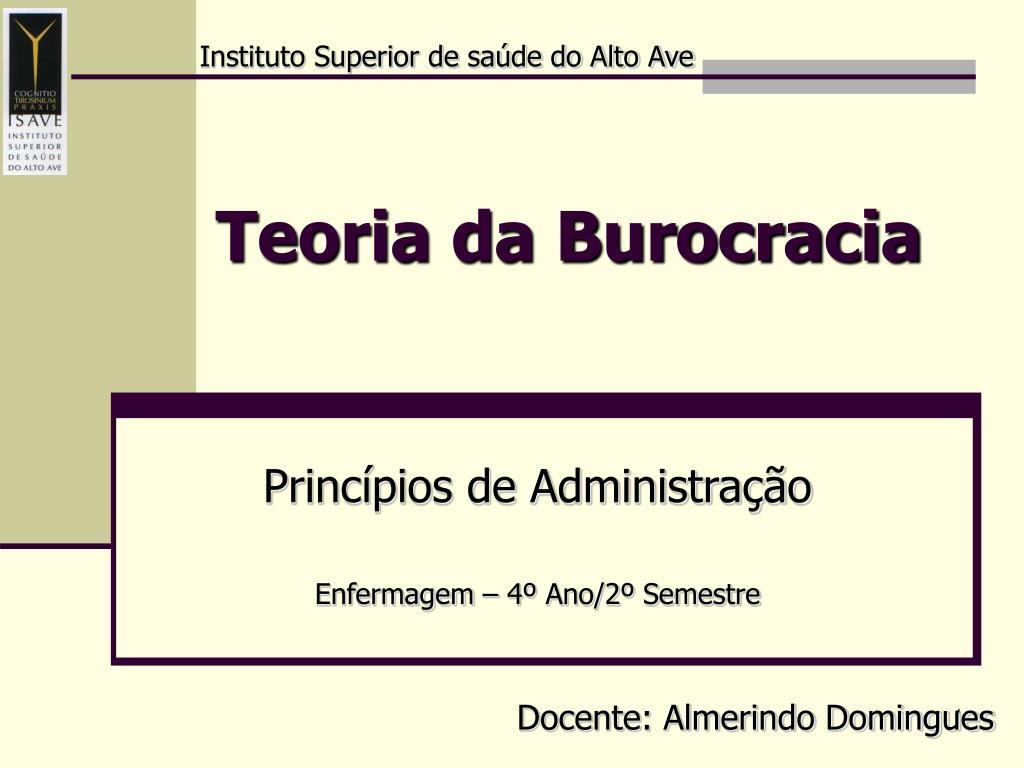 teoria da burocracia l.