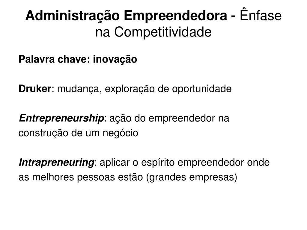 Administração Empreendedora -