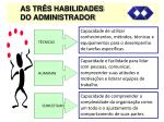 as tr s habilidades do administrador